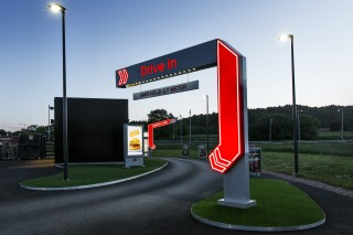 Illuminated portal for MAX in Sweden