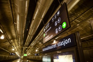 Underground railway wayfinding in Norway