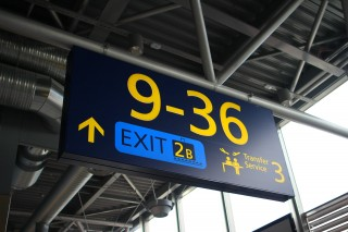 Finavia airport wayfinding LED guides