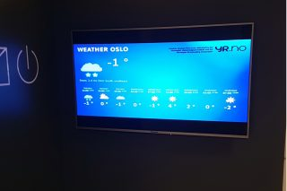 Weather on a digital monitor