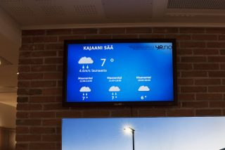 Updating weather for Kajaani in a staff cafeteria