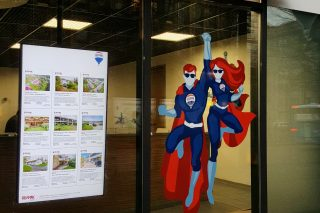 Updating home advertisements in a digital screen